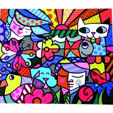 """Poster """"Britto Garden"""" by Romero Britto - 34 x 29 cm"""