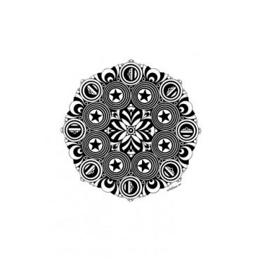 Poster Mandala 01 by Milton Toledo