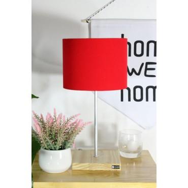 Abajur Vermelho Linha Essential by Studio Mirabile