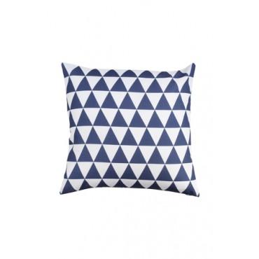 Almofada Geométrica Triângulo Azul Marinho Coleção Alegra by Studio Mirabile