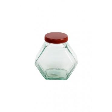 Bomboniere de Vidro com Tampa Vermelha- Coleção Mirabile Essential (17 cm x 17 cm)