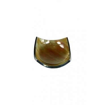 Bowl Laranja Escuro by Cristina Duarte (14 cm x 14 cm x 03 cm)