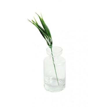 Castiçal em Vidro Transparente - 13x7x7cm - Coleção Mirabile Essential