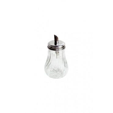 Galheteiro de vidro transparente com dosador - 13x7x7cm - Coleção Mirabile Essential