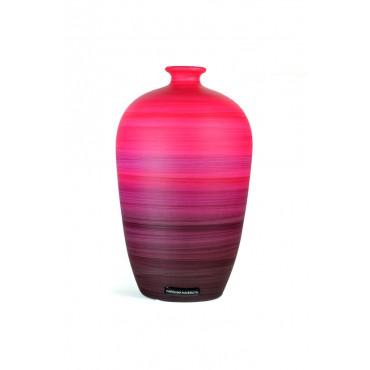 Vaso Decorativo de Cerâmica Pintada Coleção Rouge by Carolina Haveroth 01