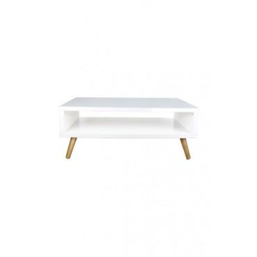 Mesa de Centro Retangular Off White Coleção Basic (90 cm x 35 cm x 54 cm)