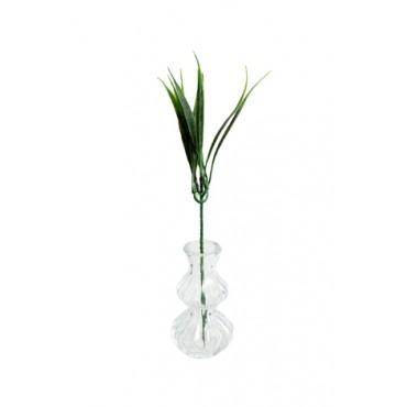Mini vaso de vidro transparente Cinturado - 9x5x5cm - Coleção Mirabile Essential - 2 Peças