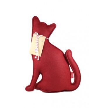 Peso de Porta e Aparador Gato Vermelho P by Paola Abiko 1