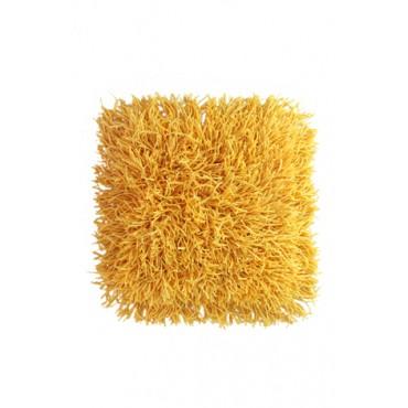 Tapete Cabeludo 45 x 45 cm - Amarelo - Coleção Mirabile Essential