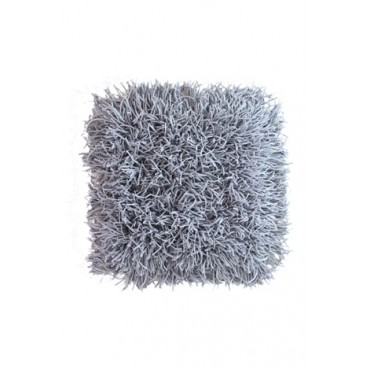 Tapete Cabeludo 45 x 45 cm - Cinza - Coleção Mirabile Essential