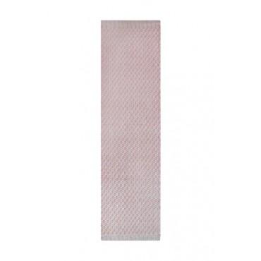 Tapete em Tear Manual Geométrico Vermelho 55cm x 200cm by Mirabile Essential