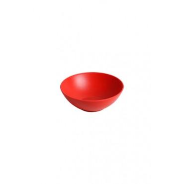 Tigela em Acrílico Vermelha - 6x16x16 cm - Coleção Mirabile Essential