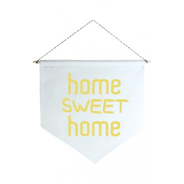 Wall Flag (Estandarte) Amarela Home Sweet Home by Studio Mirabile