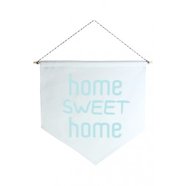 Wall Flag (Estandarte) Azul Home Sweet Home by Studio Mirabile