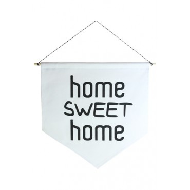 Wall Flag (Estandarte) Preta Home Sweet Home by Studio Mirabile
