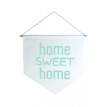 Wall Flag (Estandarte) Verde Home Sweet Home by Studio Mirabile