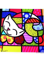 Poster Happy Cat by Romero Britto