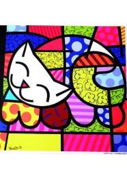 Poster Happy Cat by Romero Britto