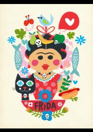 Poster Frida by Rogério Pinto - 29,5 x 40 cm