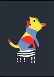 Poster Color Dog by Rogério Pinto - 29,5 x 40 cm