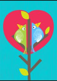 Poster Birds by Rogério Pinto - 29,5 x 40 cm