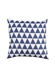 Almofada Geométrica Triângulo Azul Marinho Coleção Alegra by Studio Mirabile - 40 x 40 cm