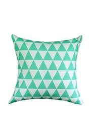 Almofada Geométrica Triângulo Verde Coleção Alegra
