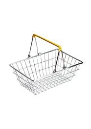 Cestinha Retrô Supermercado - Alça Amarela - 9x23x15cm - Coleção Mirabile Essential