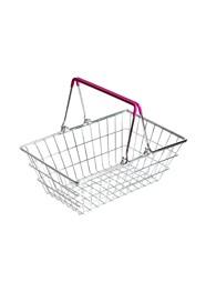 Cestinha Retrô Imitação Supermercado - Alça Lilás - 9x23x15cm - Coleção Mirabile Essential