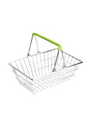 Cestinha Retrô Supermercado - Alça Verde Limão - 9x23x15cm - Coleção Mirabile Essential