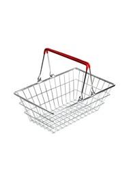 Cestinha Retrô Supermercado - Alça Vermelha - 9x23x15cm - Coleção Mirabile Essential