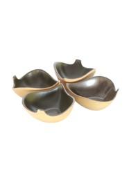 Conjunto de Mini Saladeiras Folha Esmaltadas by Chico Sasek (4 peças)