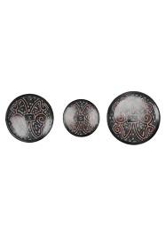 Jogo de Pratos de Parede Vermelho e Preto(3 peças) by Polo Ceramista de Icoaraci