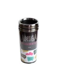Copo Térmico (amiga obrigada) - 17x8x8cm (450 ml) - Coleção Mirabile Essential