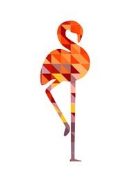 Poster Geométrico Flamingo