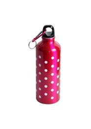 Garrafa em Alumínio Pink com Bolinhas - 500 ml - 22x7x7 cm - Coleção Mirabile Essential