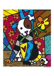Poster Dog by Romero Britto - 34 x 40 cm