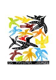 Xilogravura Os Pássaros by J. Borges
