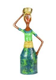 Escultura Baiana II em Papel Machê by Cláudia Pontual - 35cm
