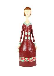 Escultura Dama Antiga I em Papel Machê by Cláudia Pontual - 35cm
