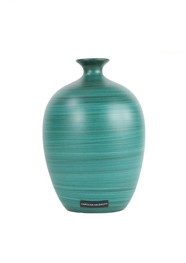 Vaso de Cerâmica Pintada Coleção Azul Turquesa Nuance by Carolina Haveroth 02