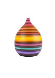 Vaso de Cerâmica Pintada Colorido Coleção Riviera by Carolina Haveroth 02