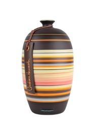 Vaso de Cerâmica Pintada Marrom e Bege Coleção Cejar by Carolina Haveroth 02