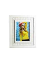 Porta Retrato em Madeira Bege com Vidro - 23x18x12 cm - Coleção Mirabile Essential