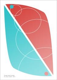 Poster Sunset and Sunrise 29,7 x 42,0 cm - Coleção Hairpin Elegance - by Studio Mirabile