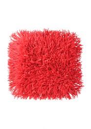 Tapete Cabeludo 45 x 45 cm - Vermelho - Coleção Mirabile Essential