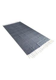 Tapete Cinza com Branco  Linha Mirabile Essential by Mirabile Decor (2,30 m x 1,35 m)