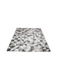 Tapete Geométrico Cinza e Marrom Linha Mirabile Essential by Mirabile Decor (1,5 m x 2,0 m)