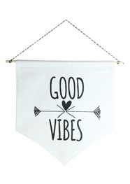 Wall Flag Preta Good Vibes by Studio Mirabile