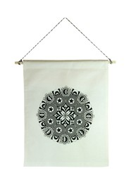 Wall Flag Preta Mandala by Milton Toledo & Studio Mirabile